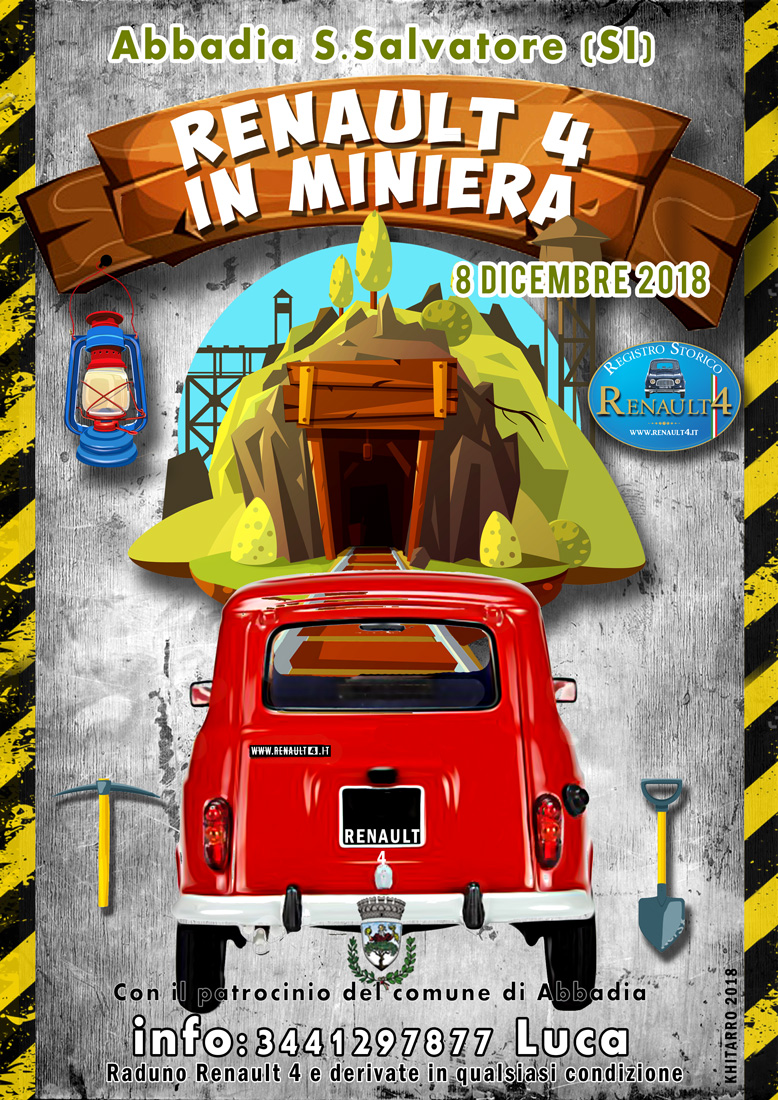 Renault 4 in miniera